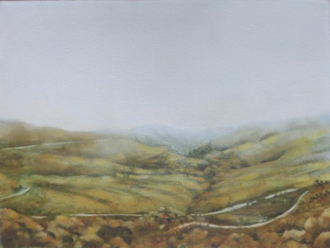 Swartberg Passing (25X30cm) Oil on canvas
